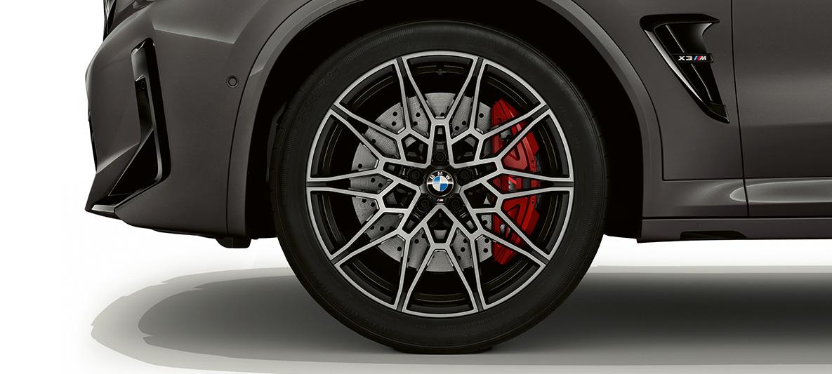 BMW X3 M Individual F97 LCI Facelift 2021 Grigio Telesto Leichtmetallrad Nahaufnahme